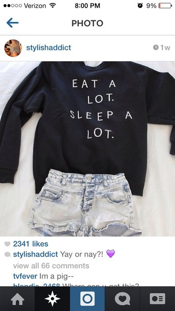 shirt eat sleep hipster black top cute sweater shorts quote on it jumper a lot eat sleep wear sleeping alott blouse black sweater eat a lot sleep a lot eat alot sleep alot writing winter sweater oversized sweater white sweatshirt navy crewneck lazy day sweater gray hoodie white letters and perfection High waisted shorts jumper black jumper sweater black and white sweatshirt denim funny eat sleep trendy cute sweaters jacket soft grunge pastel goth eat a lot sleep a lot crewneck warm help me find this shirt plz! eat a lot sleep a lot High waisted shorts t-shirt tumblr quote on it freshtops sweater weather teenagers teenagers cool girl style cool 90s style grunge print crewneck sweater hipsyer sweater weather eat a lot. sleep a lot. money or nah fall outfits fall outfits seasons me ong t-shirt denim shorts clothes back long sleeves food lazy day outfit pullover fashion dark navy/black small oversized tumblr sweater girl prom dress messy more wedding dress life wedding dress girly life's a beach lovely pepa cute things black and white tumblr outfit tumblr shirt sweter sweater lot tendy fashion style eat.sleep.read earphones skirt graphic tee quote on it pale peri.marie need this ! bag black top jeans black        teestarsusa black sweater print winter outfits sweater with saying dark blue short summer nice funny funny sweater