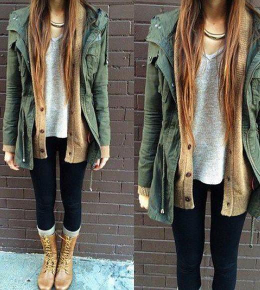 coat winter outfits fashion green autumn colours autumn coat autum