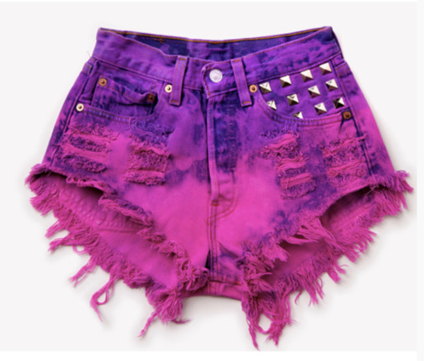 Shorts: sexy, pink, purple, short, high waisted shorts, cut off ...