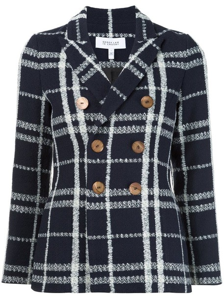 DEREK LAM 10 CROSBY jacket women cotton blue wool