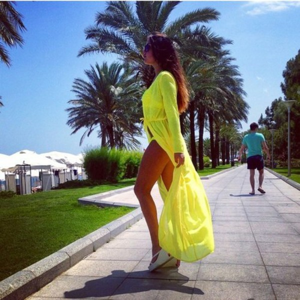 dress maxi maxi dress maxi vest neon yellow beach cardigan kimono maxi kimono