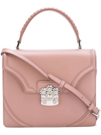 satchel purple pink bag