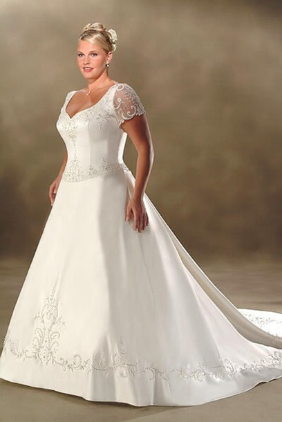 dress wedding dress plus size dress white