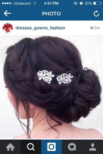 jewels accessories hair pretty prom plaits braid diamonds