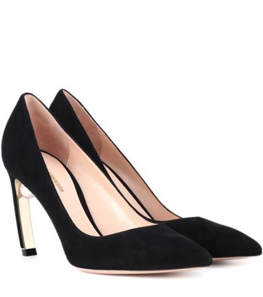Nicholas Kirkwood suede pumps pumps suede black shoes