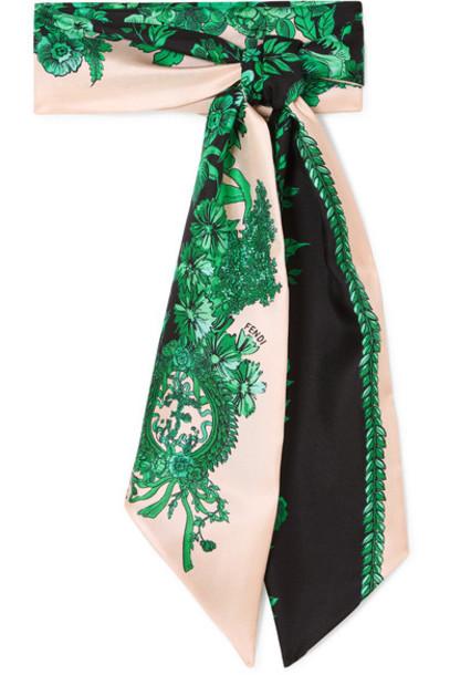 scarf silk green