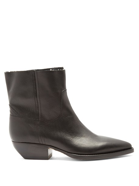 Saint Laurent leather ankle boots ankle boots leather black shoes