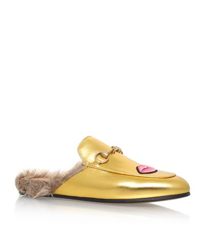 Gucci Princeton Fur Slide Loafers