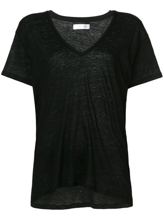 blouse women black top