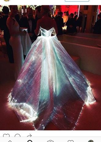 dress gown cinderella ball gown dress glow in the dark