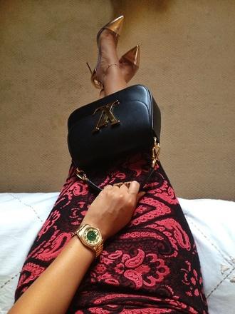 dress louis vuitton pumps pink dress bodycon dress jewels skirt shoes ysl