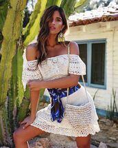 dress,knitted dress,knitwear,short dress,off the shoulder dress,bag,knitted bag
