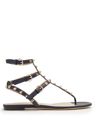 sandals leather sandals leather navy shoes