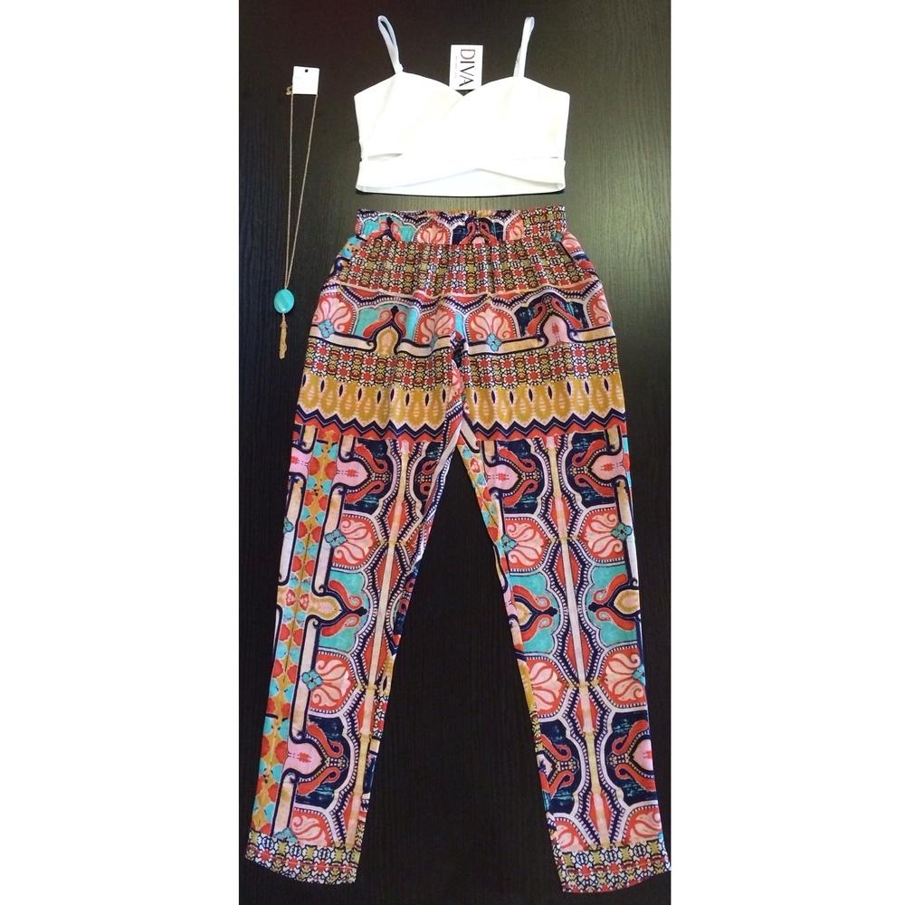 Mallory Colorful Trousers Diva Moda Fashion Couture