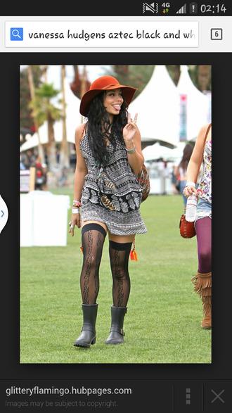 boho aztec hippie vanessa hudgens aztec bohomiam style coachella gypsy socks