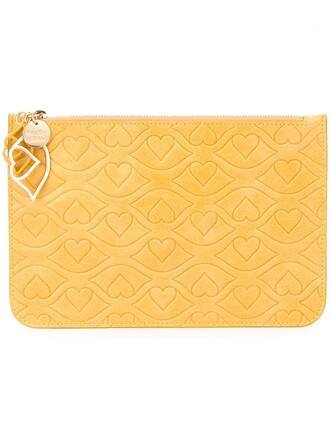 clutch yellow orange bag