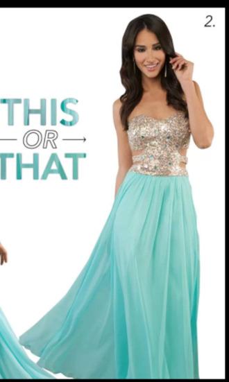 dress prom dress light blue