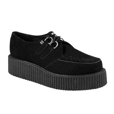 Black suede mondo creeper shoes