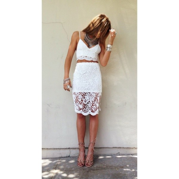skirt top lace