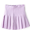 Light purple pleated high waist skater skirt