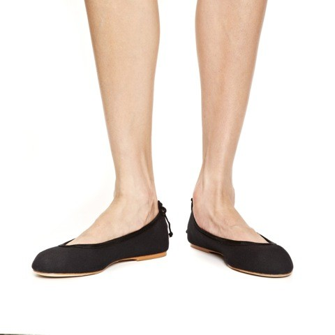 Sateen black flats for women from soludos