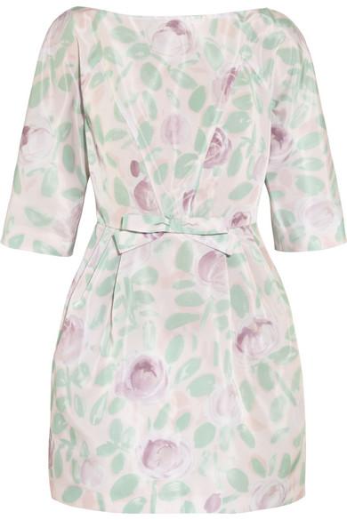 Print taffeta mini dress