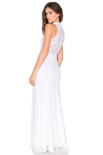 gown lace white