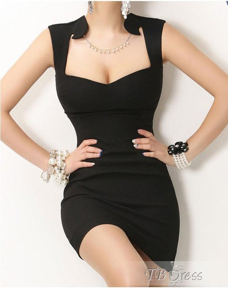 dress black little black dress black dress black bodycon black bodycon dress low neck