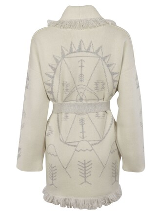 coat jacquard white