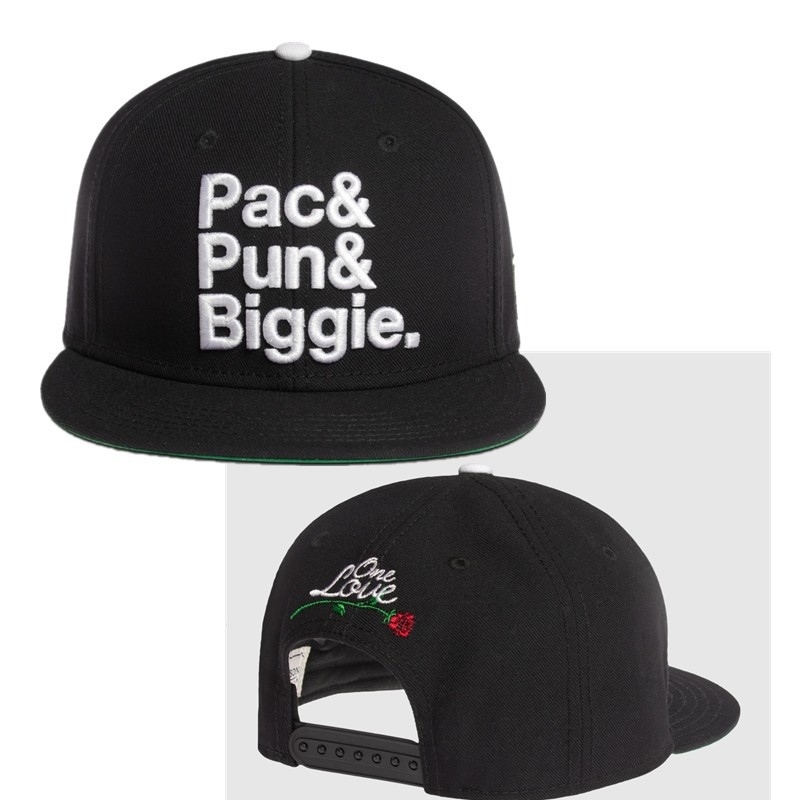 Freeshipping hiphop Cayler & Sons Pac & Pun & Biggie one love snapback hats black newest  mens exclusive adjustable caps !-in Baseball Caps from Apparel & Accessories on Aliexpress.com