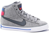 shoes,grey,fabric,high top sneakers,nike high tops,nike,nike shoes,grey nike high tops