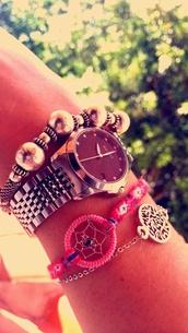 jewels,grey,dreamcatcher,gucci watch,metallic