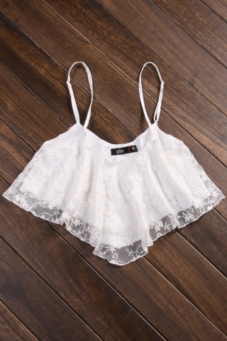 Femme fatale cropped top