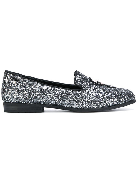 karl lagerfeld women loafers leather black shoes