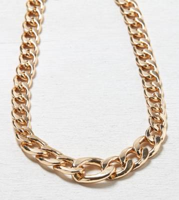 AEO Chunky Chain Link Necklace, Gold | American Eagle Outfitters