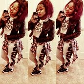 t-shirt,colormeae,crop tops,swag,girl,cute,instagram,reginae carter,gangsta,jacket,pants