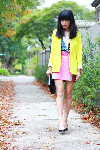 k is for kani jacket t-shirt skirt jewels bag belt shoes