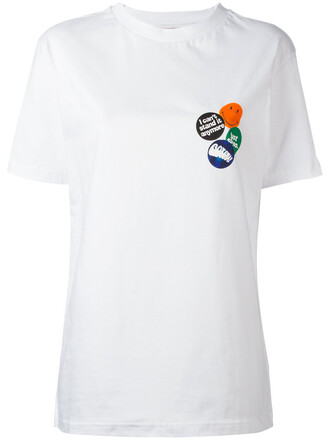 t-shirt shirt women white cotton top