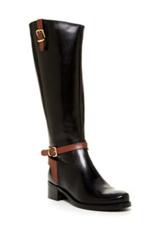 shoes knee high riding boots black riding boots brown straps