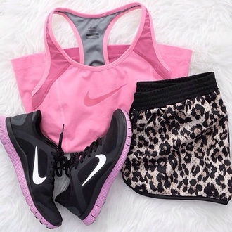 shorts leopard print ladies gym shorts gym clothes