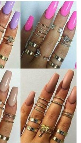 jewels gold palm tree ring knuckle ring gold ring jewelry