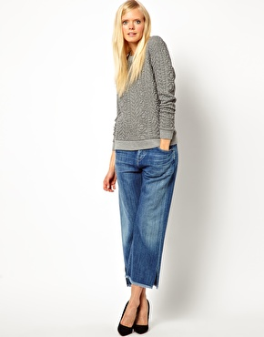 Baum Und Pferdgarten | Baum und Pferdgarten Textured Jersey Sweater in Aran Knit Effect at ASOS