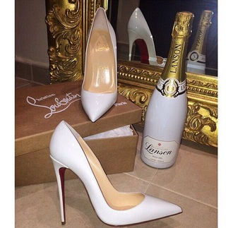 shoes white louboutin so kate
