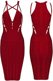 dress,dream it wear it,clothes,red,red dress,cut-out,cut-out dress,strappy,strappy dress,bodycon,bodycon dress,bandage,bandage dress,spaghetti strap,straps,party,party dress,sexy party dresses,sexy,sexy dress,party outfits,pool party,summer,summer dress,summer outfits,summer party,textured,classy,classy dress,elegant,elegant dress,cocktial,cocktail,cocktail dress,herve leger,girly,date outfit,celebrity,celebrity style