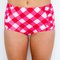 Gingham ruched swim bottoms | lime ricki swimwear
