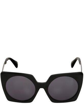 oversized sunglasses black