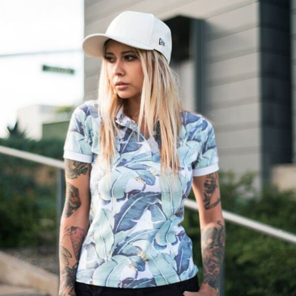 t-shirt, fusion clothing, polo shirt, polo shirt, top, girl, floral ...