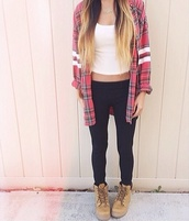 shirt,sweater,plaid,red,cute,tumblr,black,pants,shoes,coat,blouse,jacket,plaid shirt,plaid jacket,the jacket,fashion,casual,follow me babies,followers,plaid red shirt and quote shirt,checks,tartan,top,flannel,leggings,tank top,timberlands,t-shirt,ombre hair,ootd,cozy,crop tops,flannel shirt,striped shirt,white,cardigan