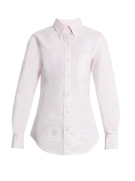 shirt cotton pink top