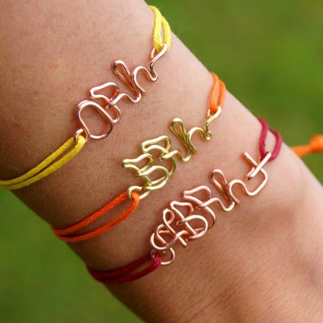 Braccialetti dell'amicizia - Bracelet - blood group - wire - un prodotto unico di She-Bijou su DaWanda